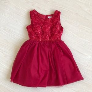 Youngland Little Girl's Rose Dress NWOT